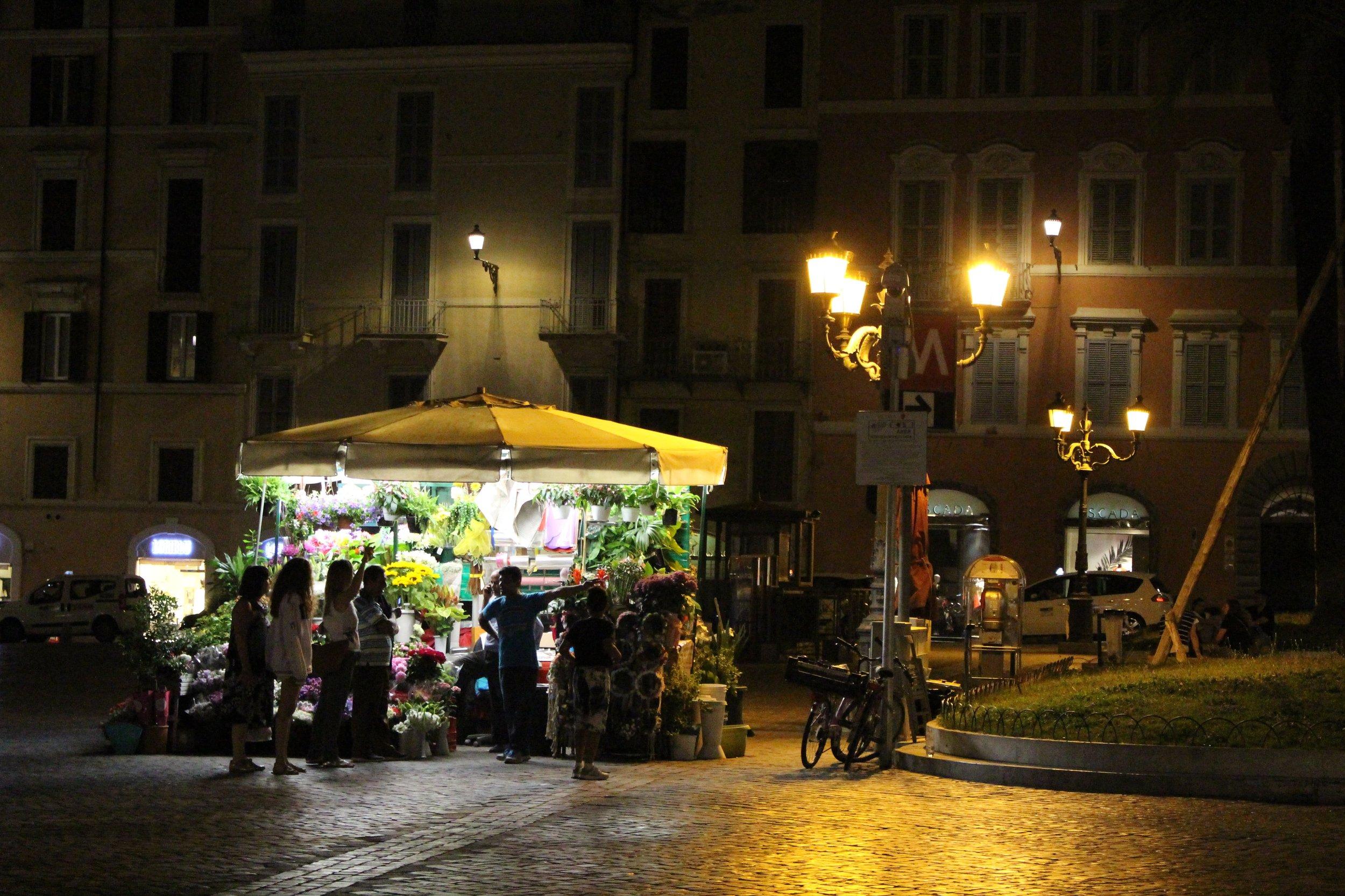 Night scenes from Rome, Italy