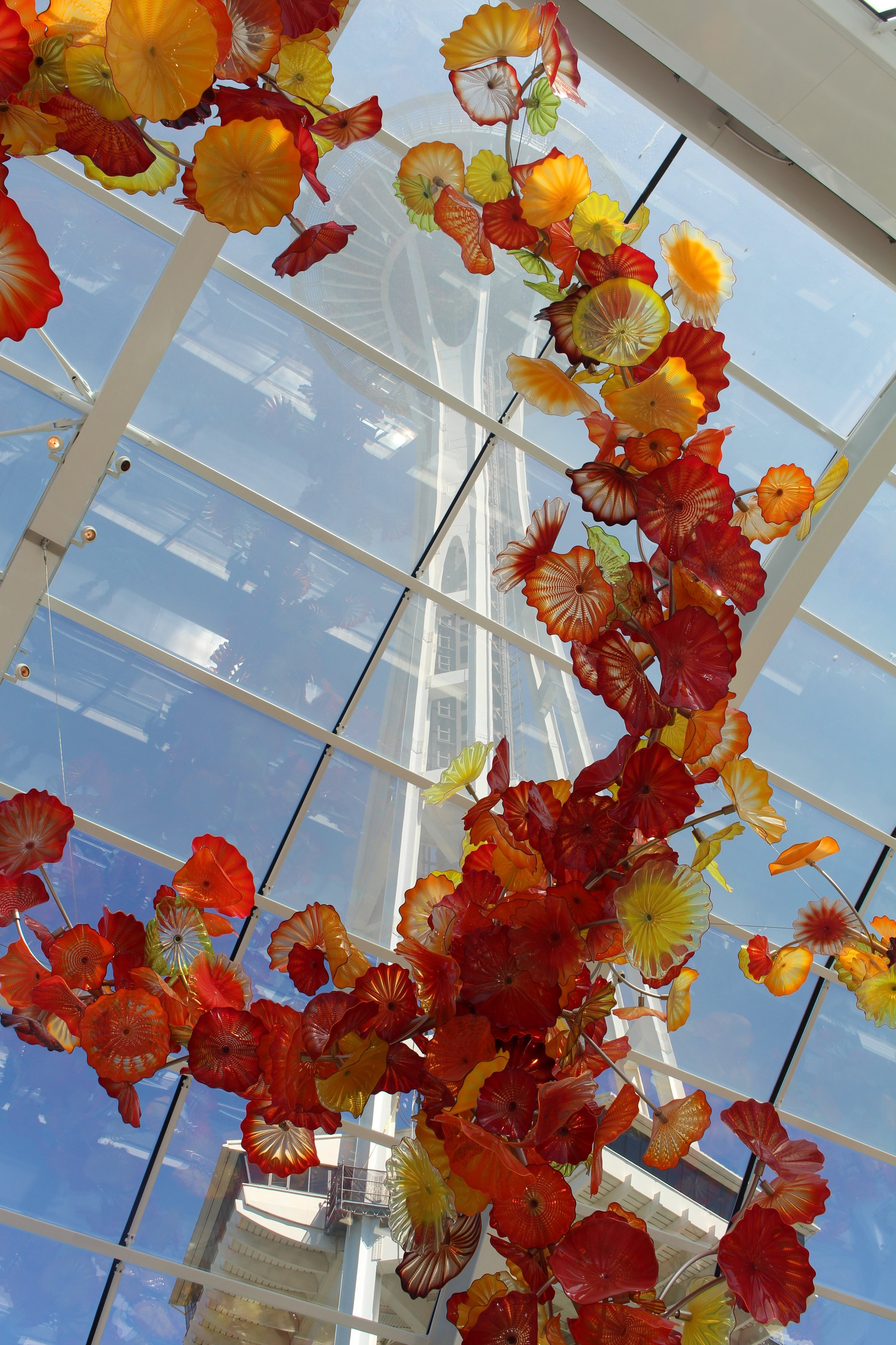 Space needle under the Chihuly