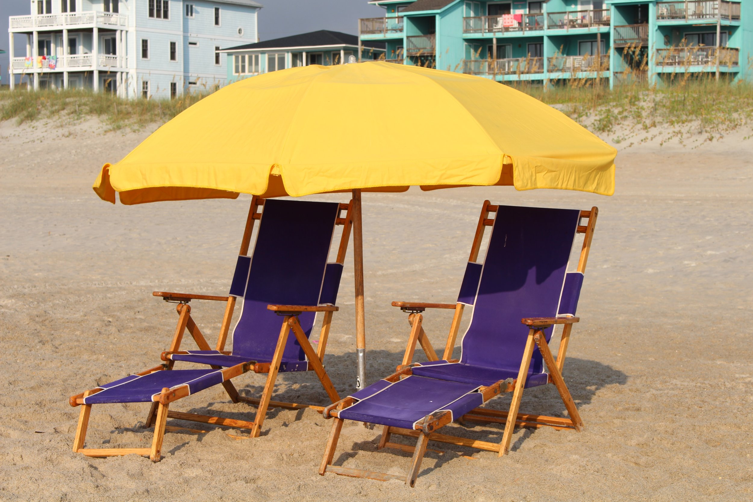 Purple beach chairs at Carolina Beach Photo by Alisha Wielfaert