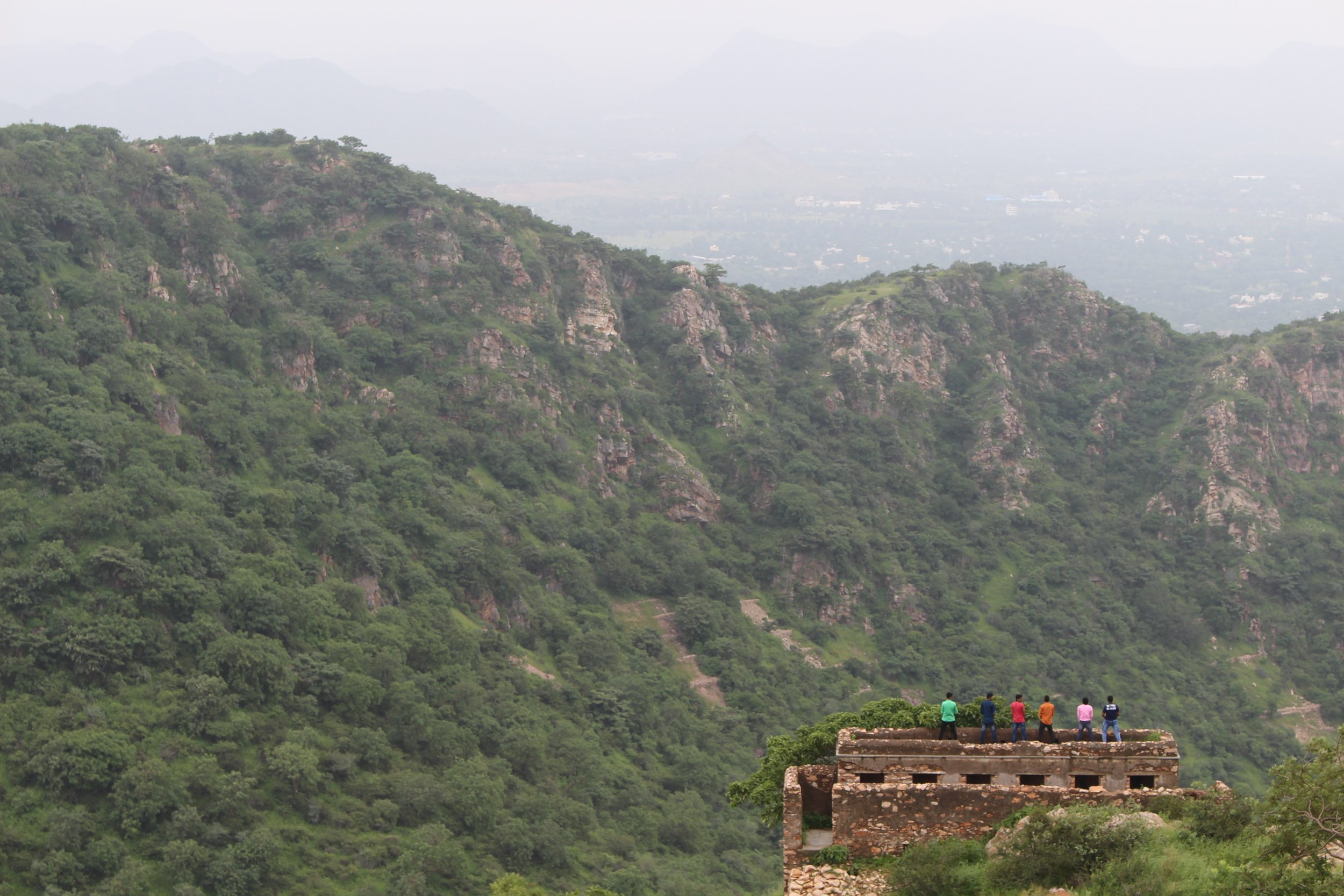 Monsoon Palace looking at the mountain