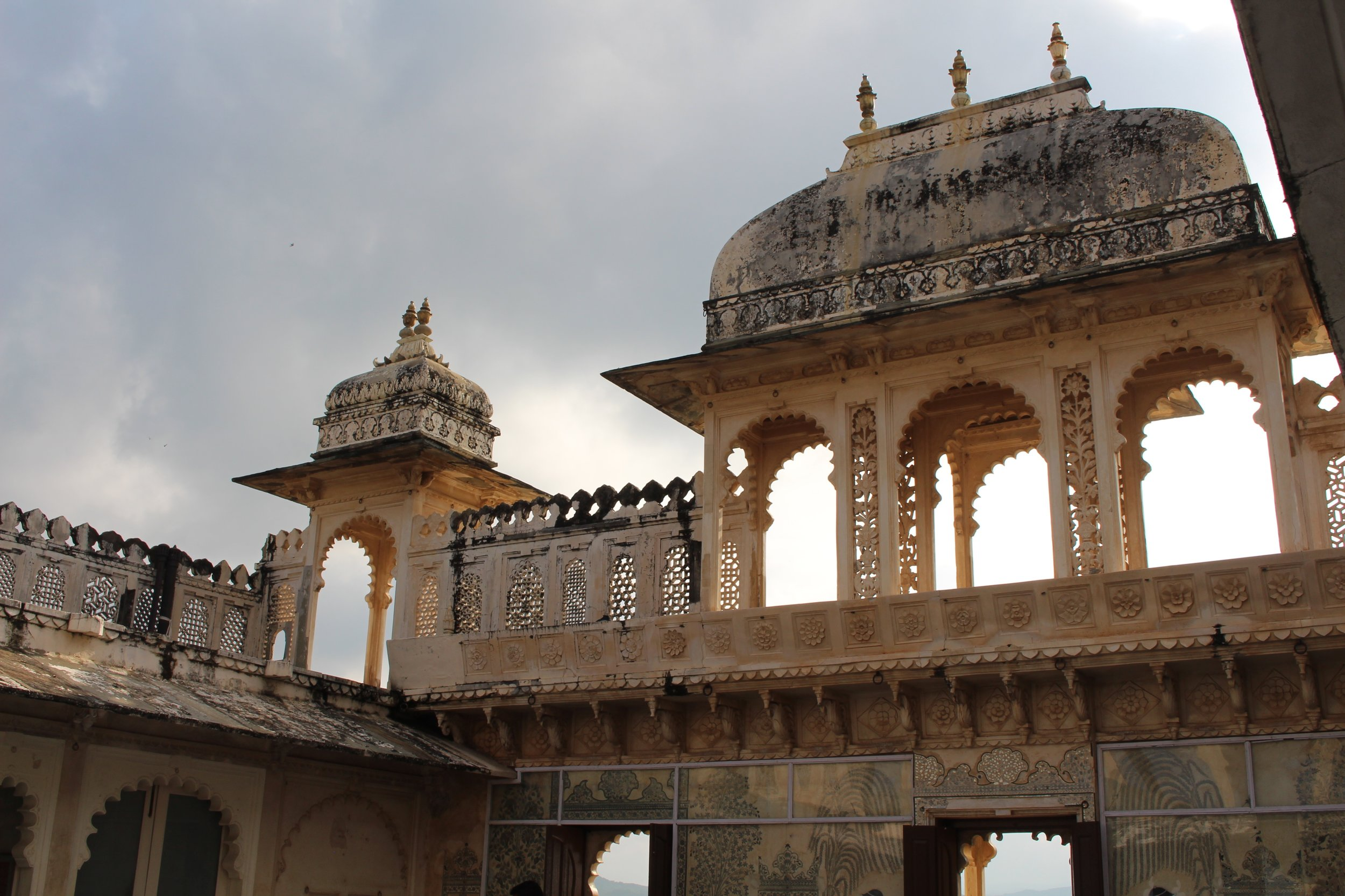 This is a shot from inside the palace in Udaipur
