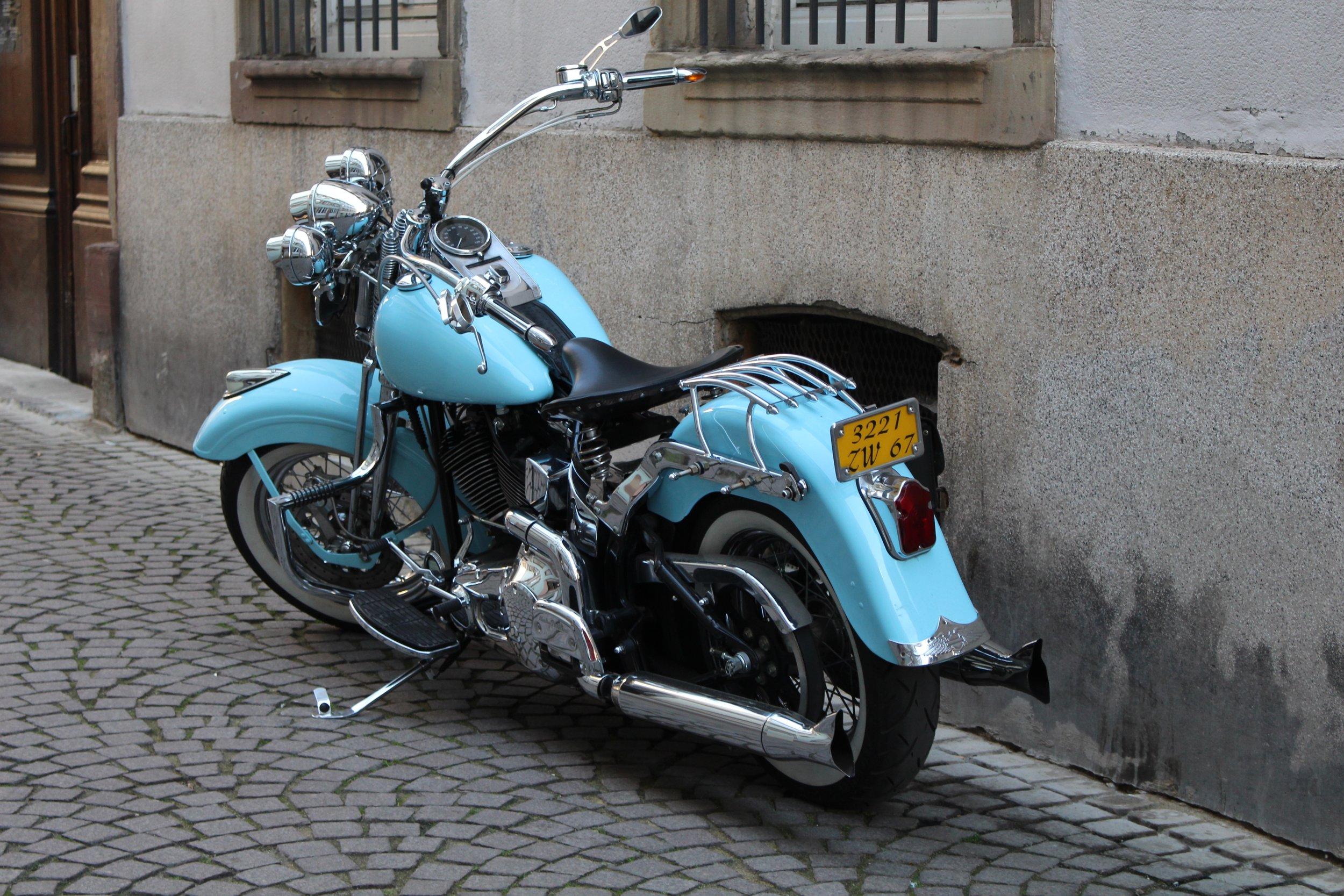Motorcycle in Strasbourg, France