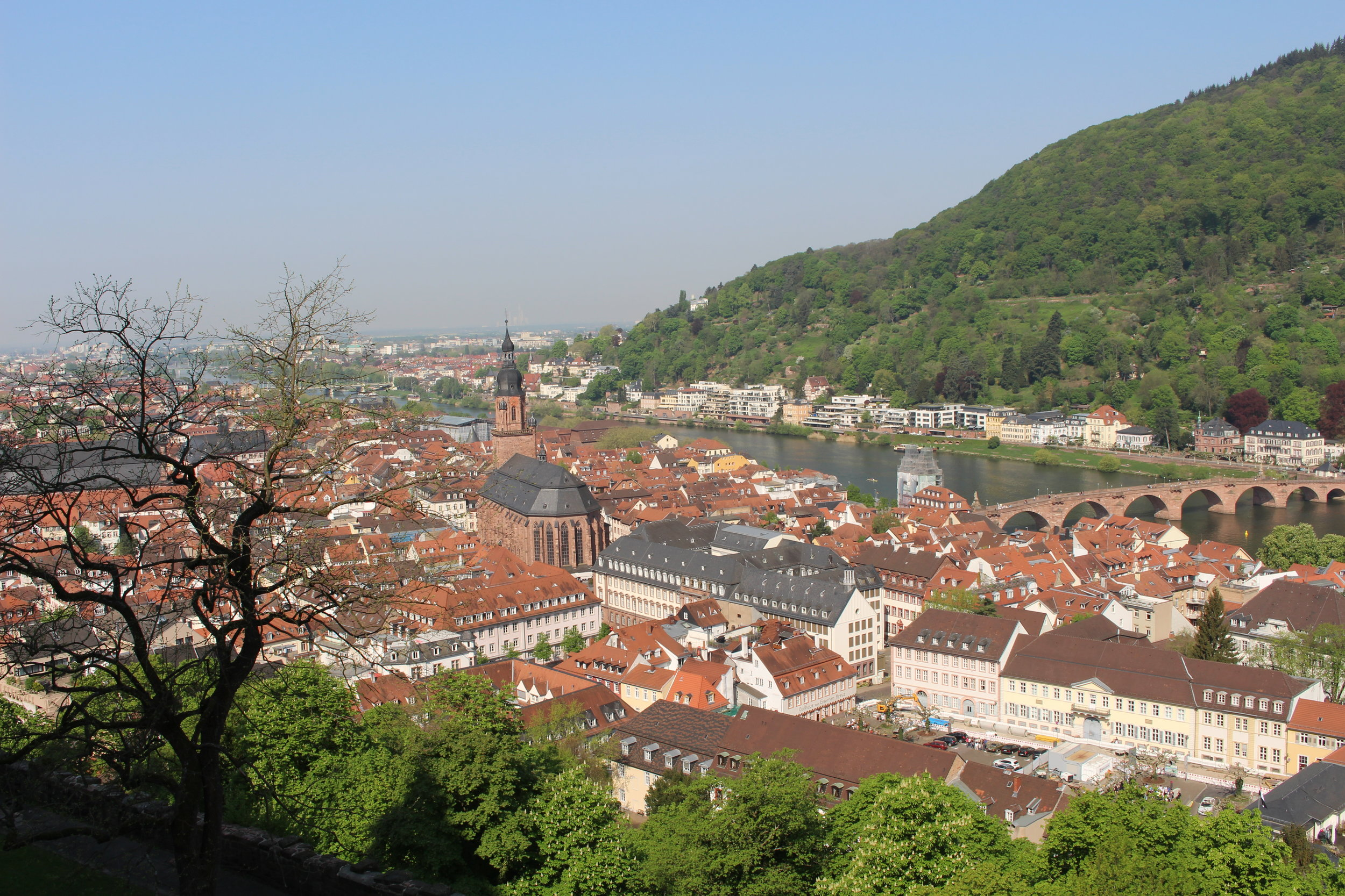 The view from the Castle in Heidelberg, Germany is so beautiful my photo doesn't even do it justice.