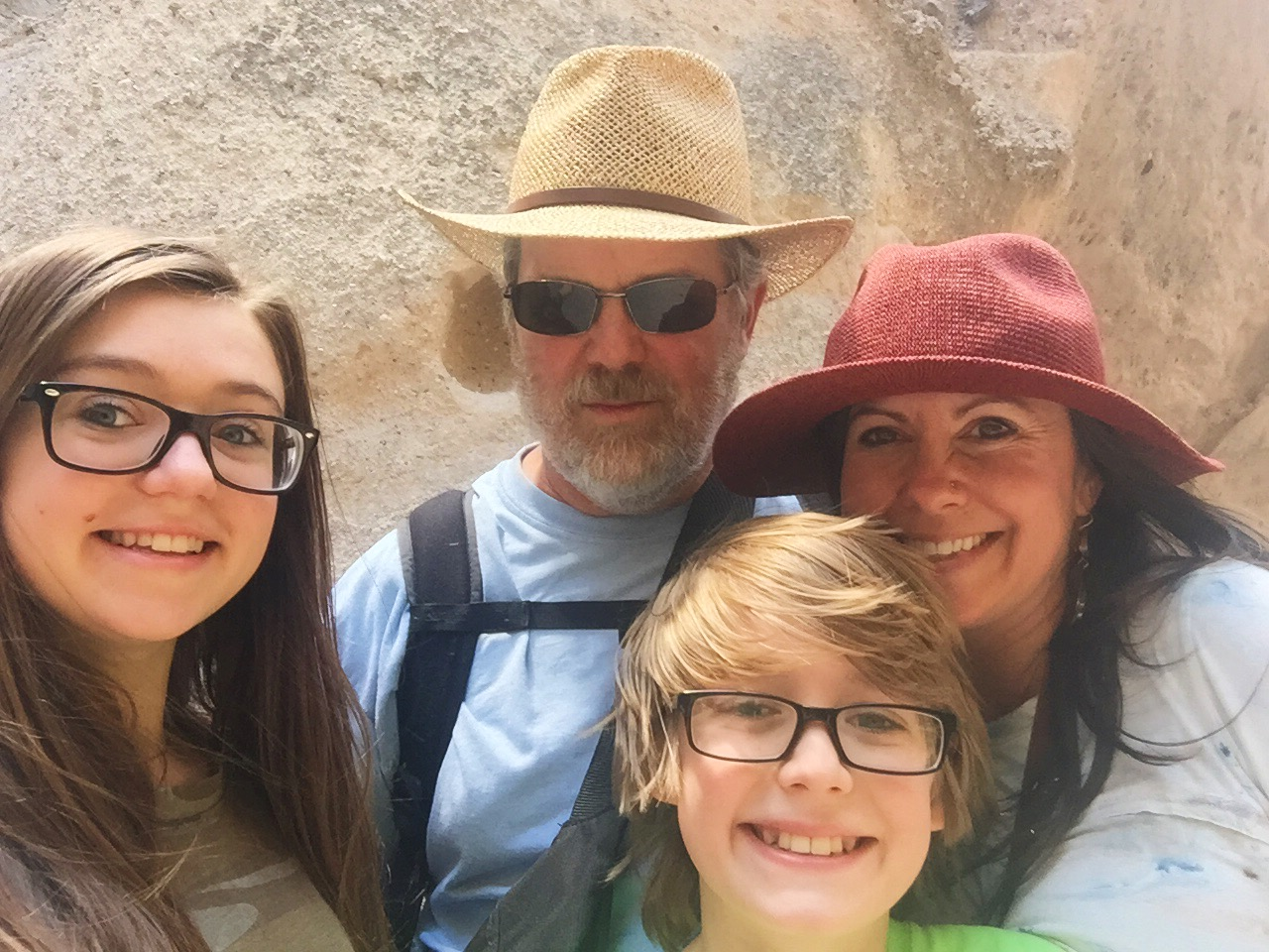 Christina Brown with Family in Italy