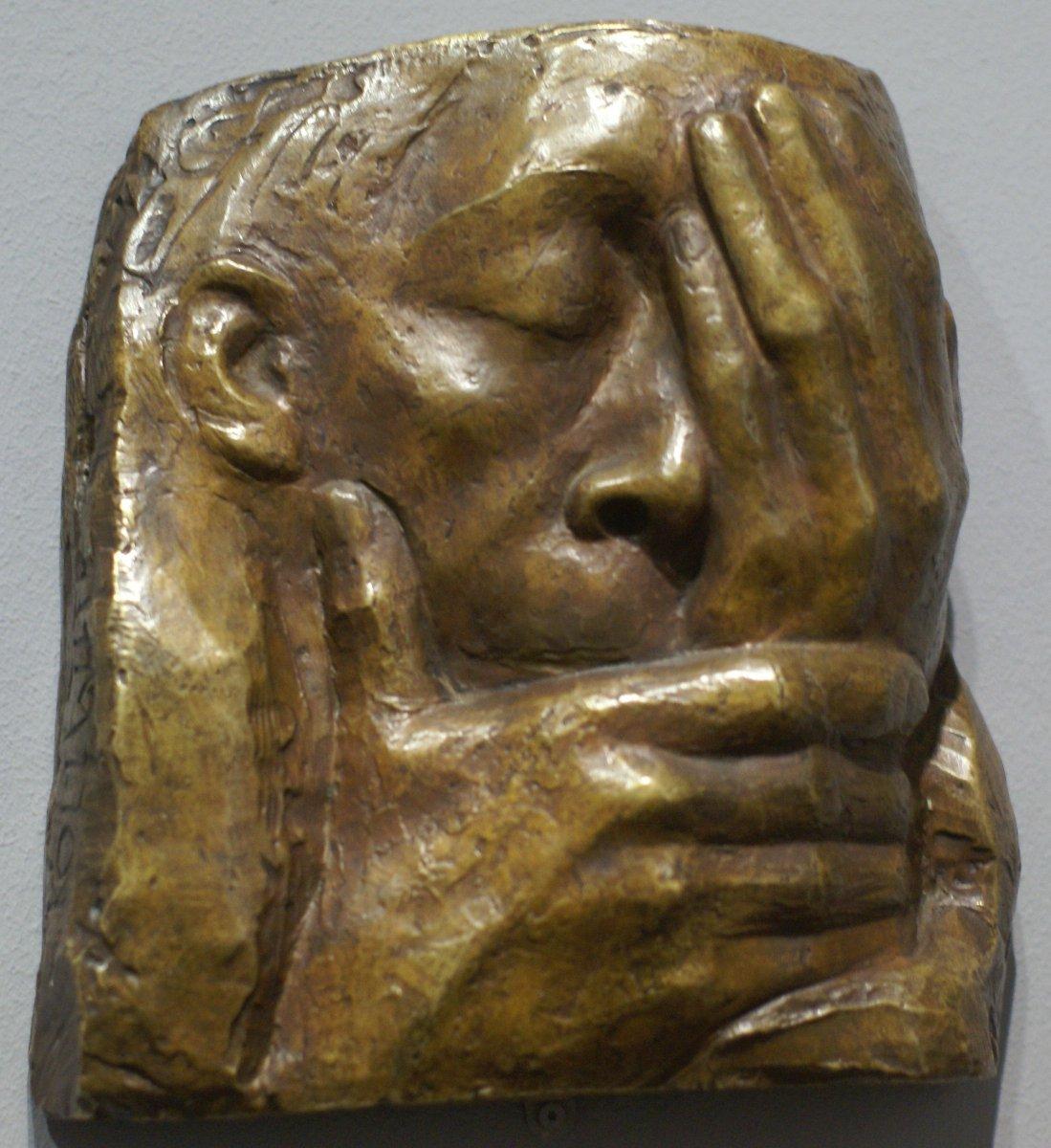 Kathe Kollwitz. Lamentation: In Memory of Ernst Barlach. 1938.