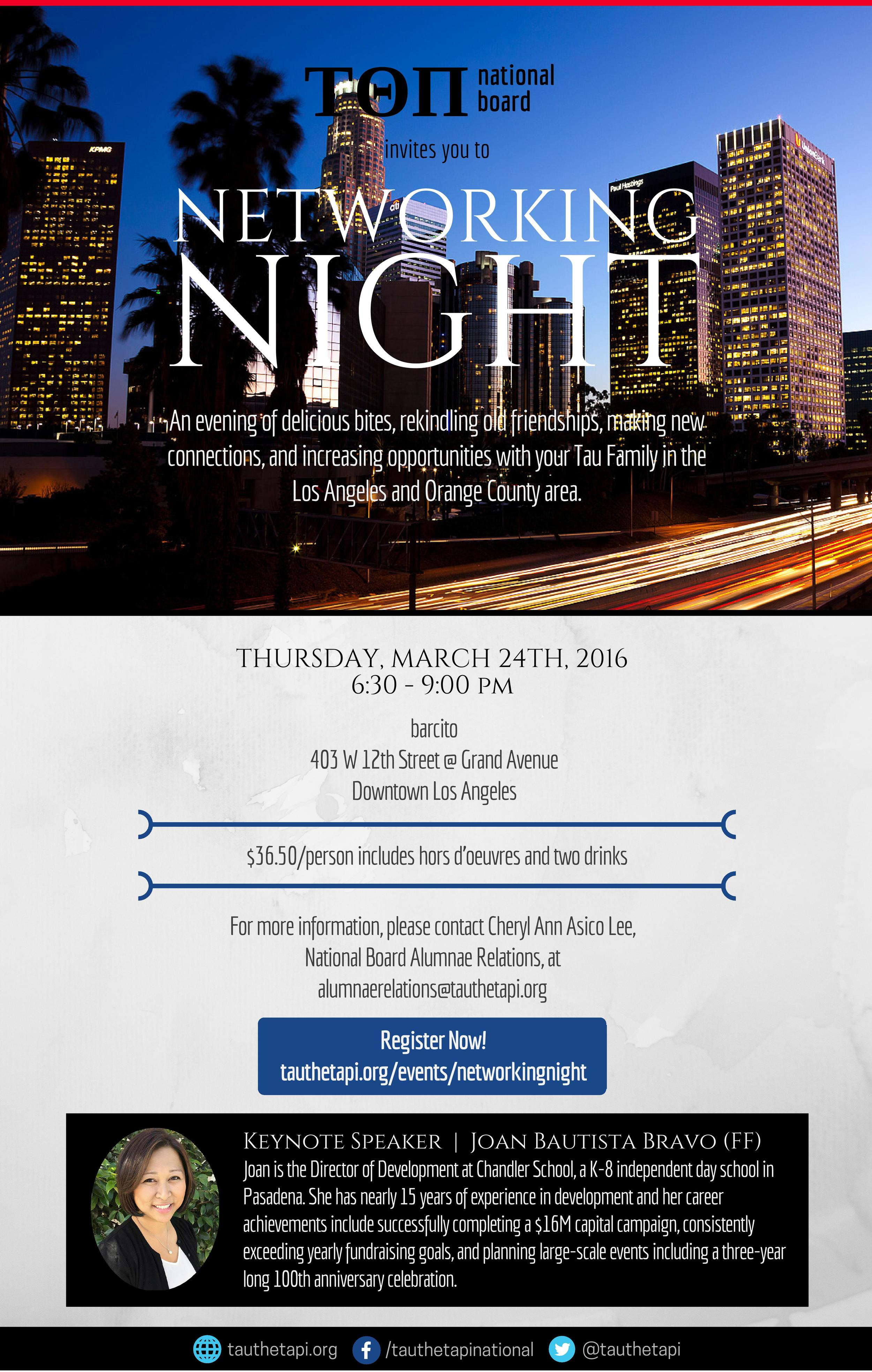 Ticket sales have closed. If you have any further questions please email alumnaerelations@tauthetapi.org