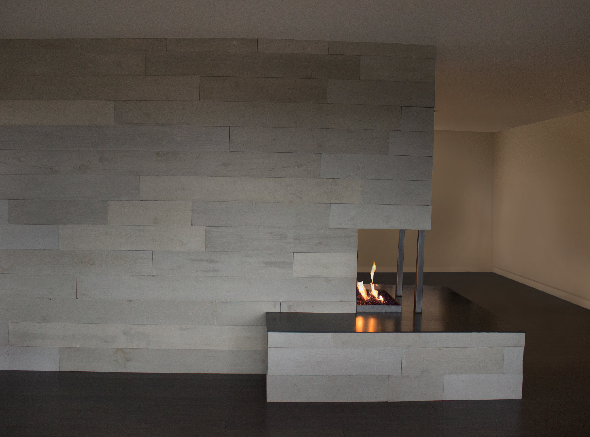 OrganiCrete® Concrete Panel Fireplace