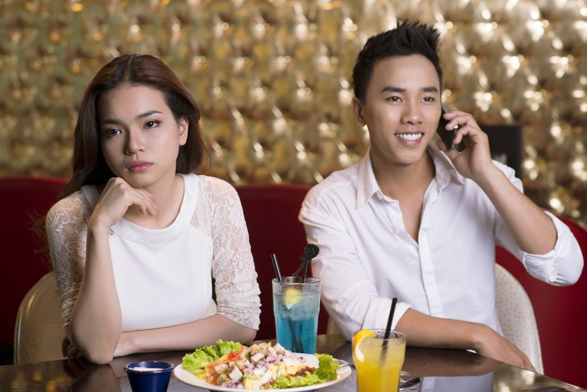 Turn off the phone - when on date night.