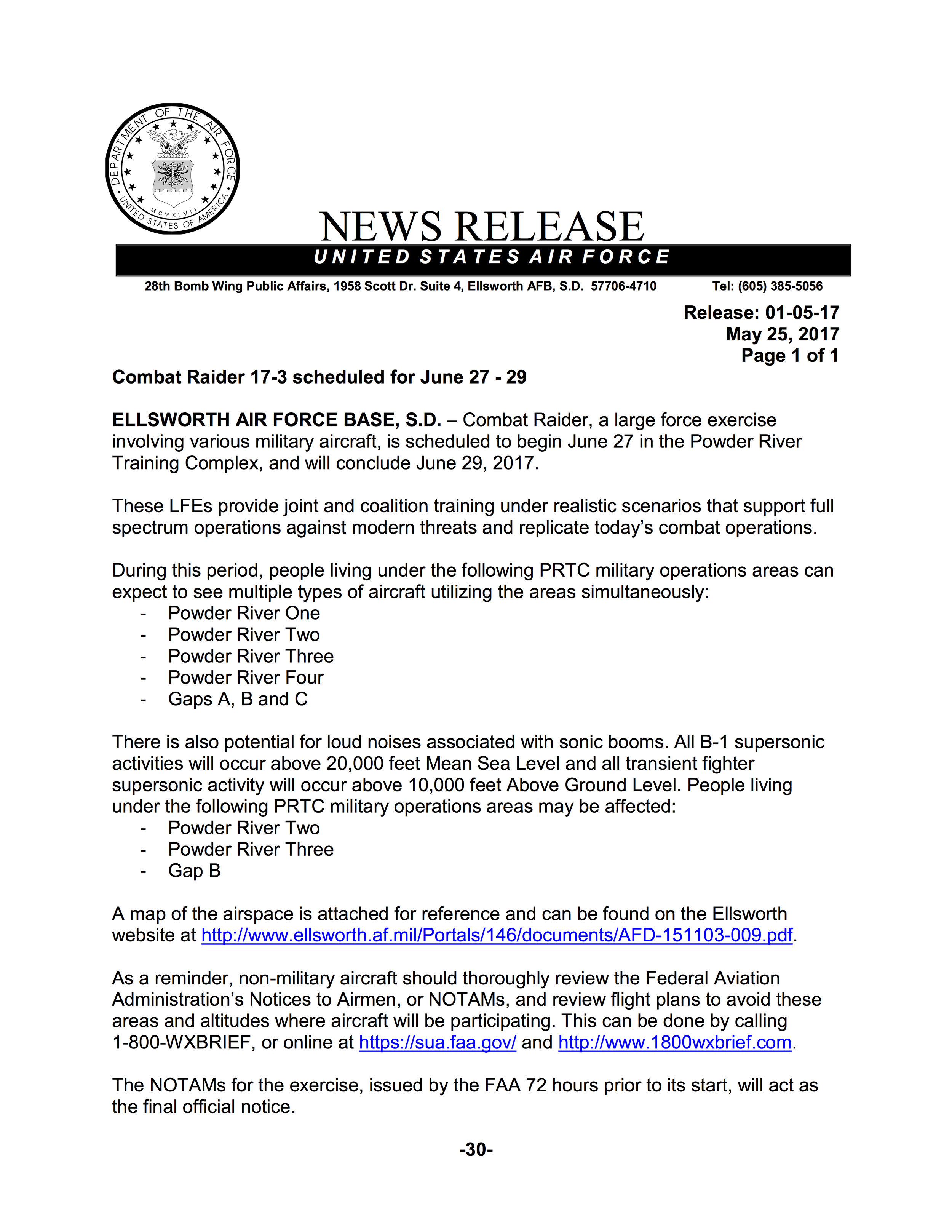 News Release 010517 - Combat Raider Scheduled for June 27 -29.jpg