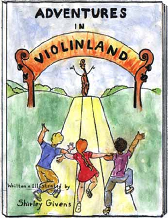Shirley Givens' violin land book cover