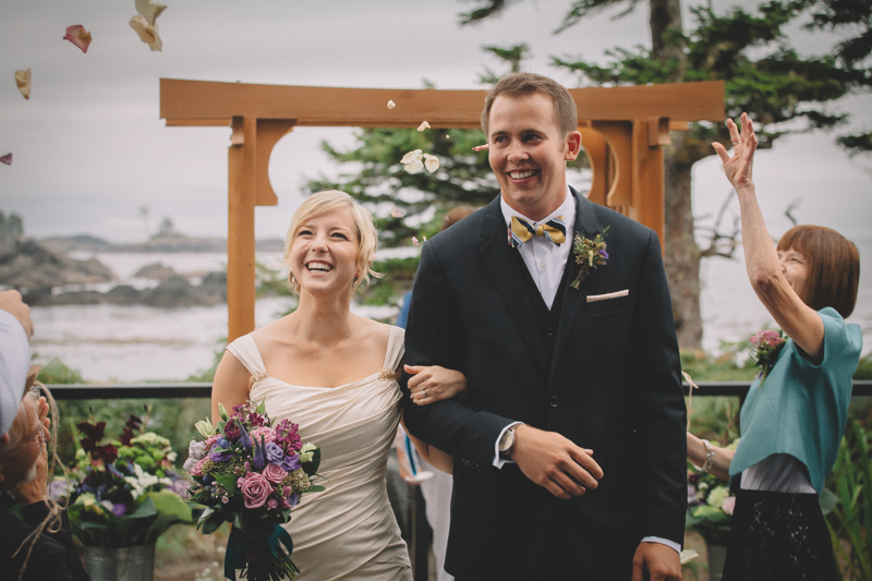 CLARA & DAVE - These two sweethearts met in college and have been in love ever since. Oceans, surfing and the west coast always appealed to them, so what better place to get married than Tofino on Vancouver Island. What a beautiful day…even the rain! x