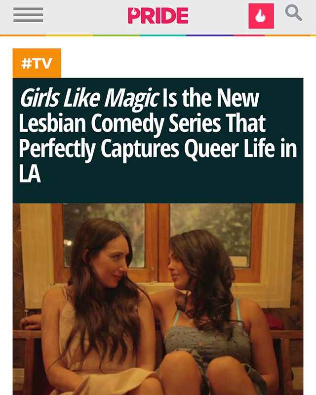 Pride.com write up! Woohoo! Thank you @pride_site 🌈🙏💗💛💙❤️💜💚 #lgbt #lgbtq #lesbian #queer #gay #webseries #indiefilm #girlslikemagic #girlslikegirls #loveismagic #loveislove #lovewins #lovetrumpshate