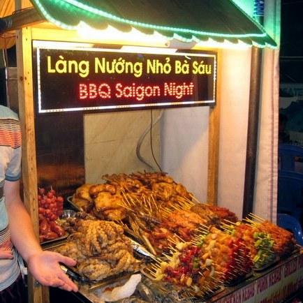 BBQ, Ho Chi Minh City. Fresh seafood is abundant.