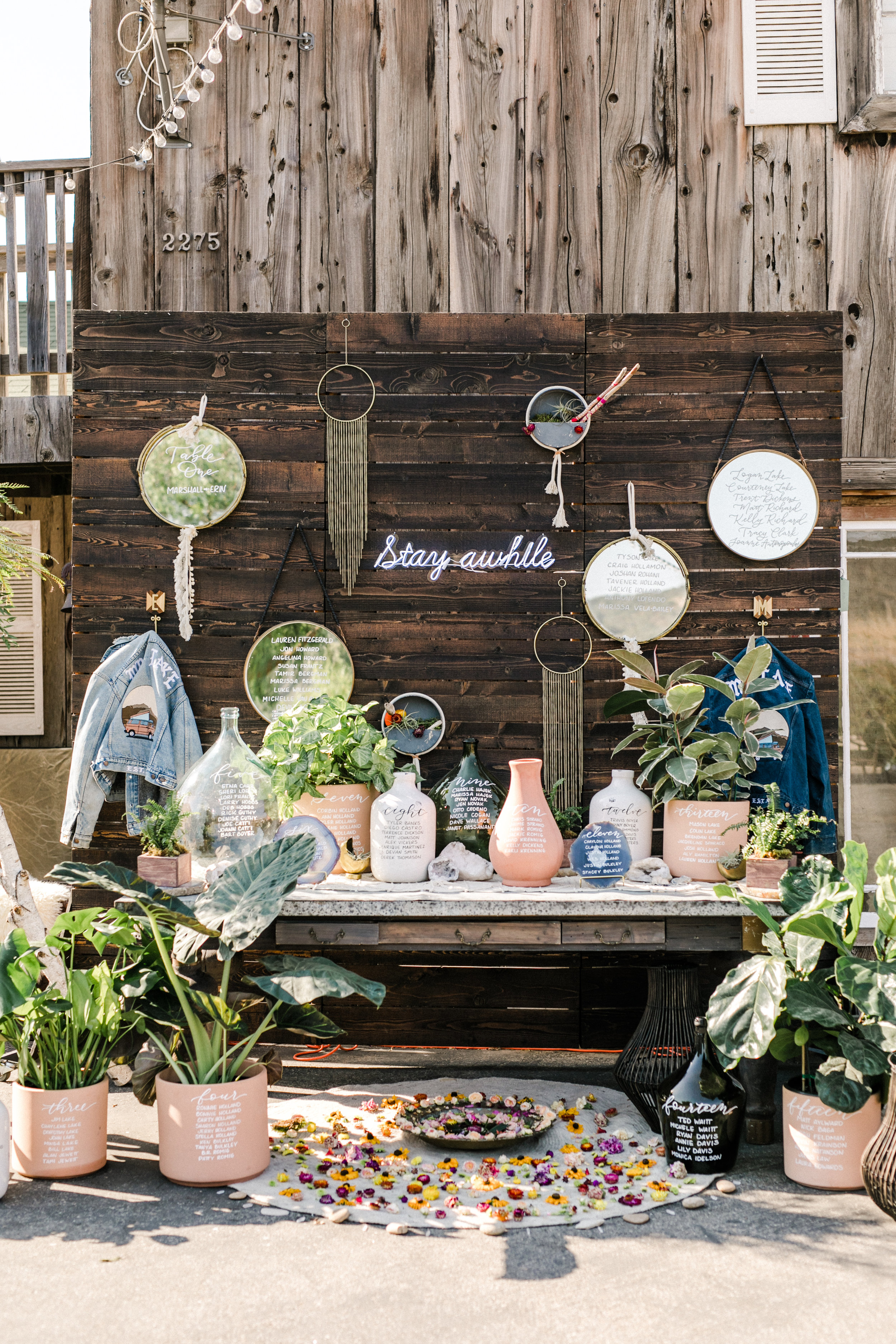 Boho Jungalow Inspired Seating Chart