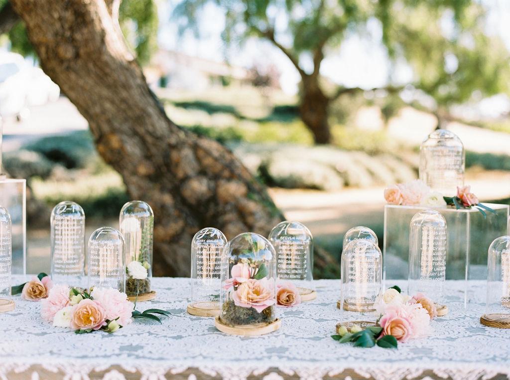 Creative garden wedding seating chart