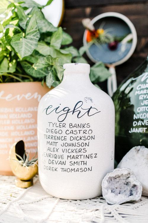 Calligraphy on vase