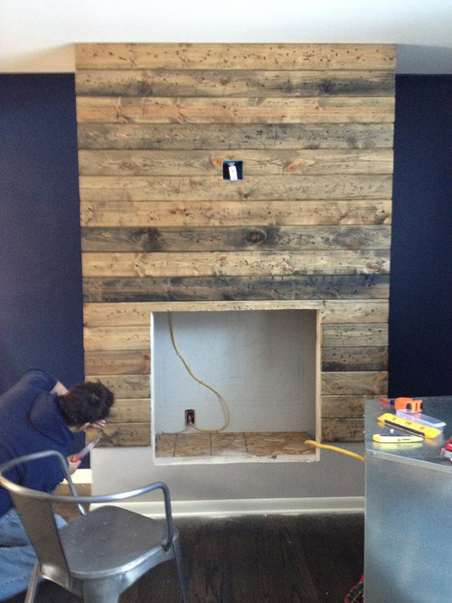 Diy Reclaimed Wood Fireplace Surround