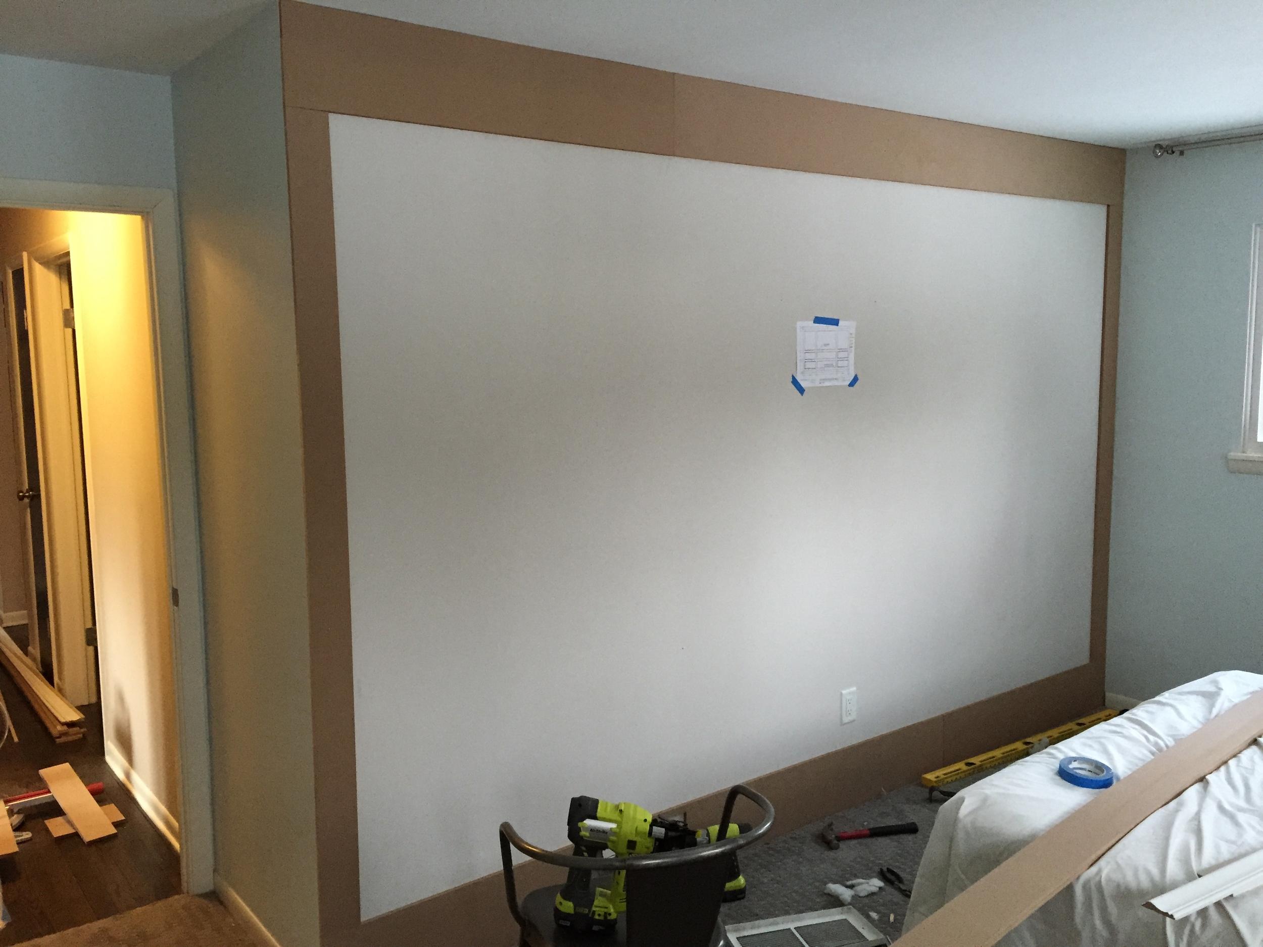 Wood Paneled Wall DIY