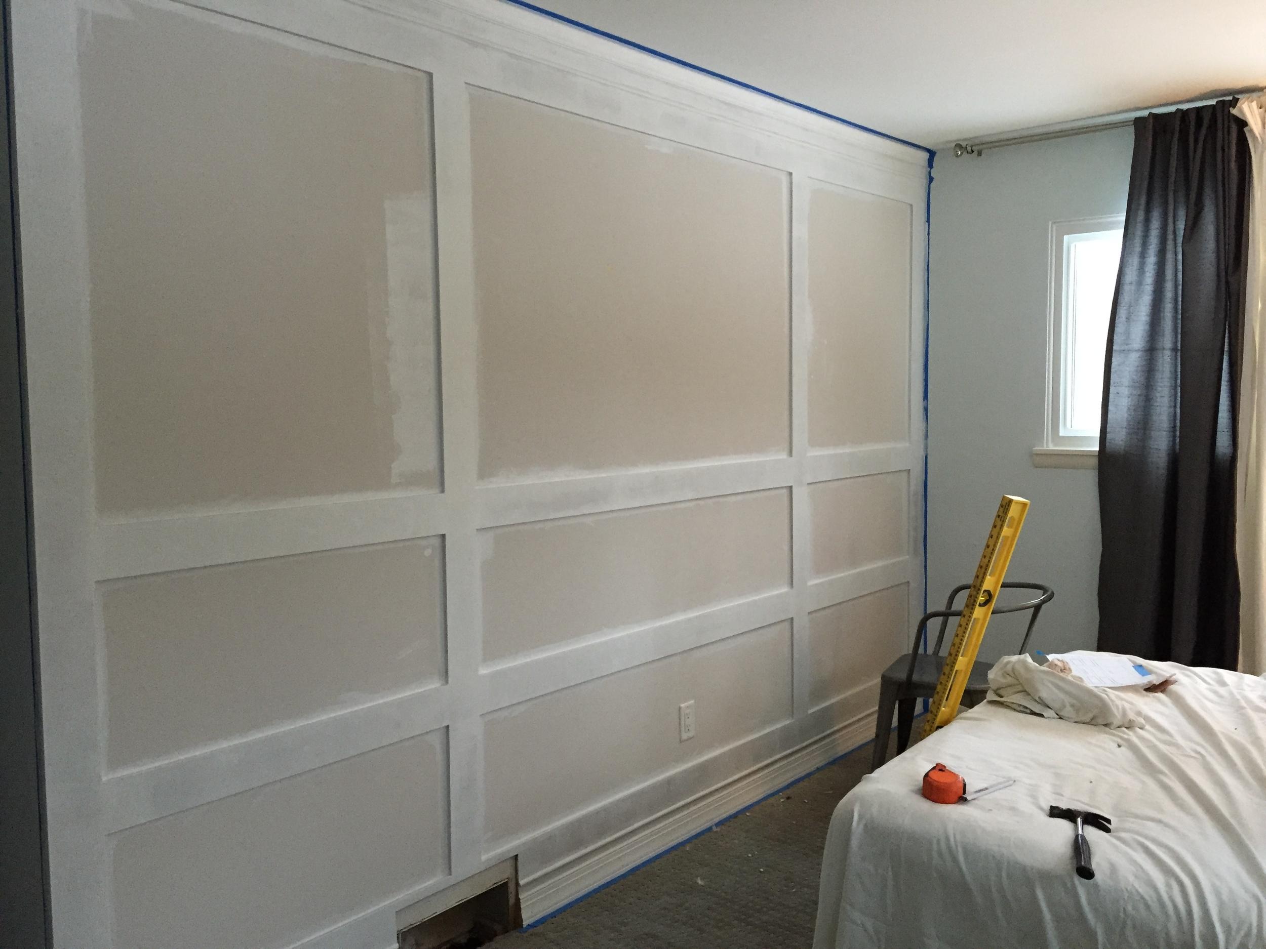 Painting MDF Paneled Wall