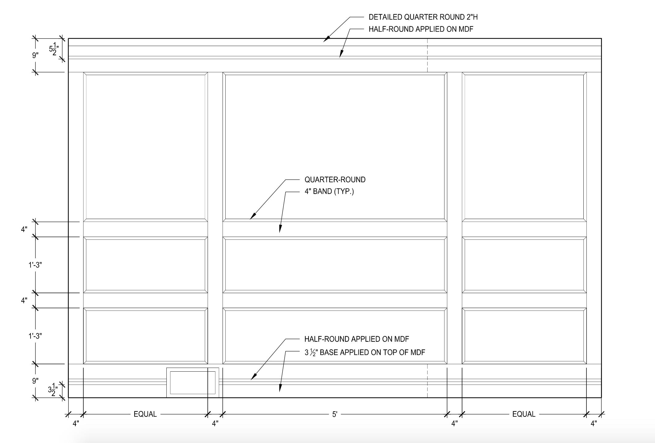 Wood Paneled Wall Drawing