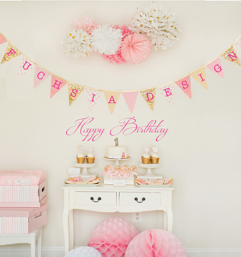 Fuchsia Design Happy Birthday