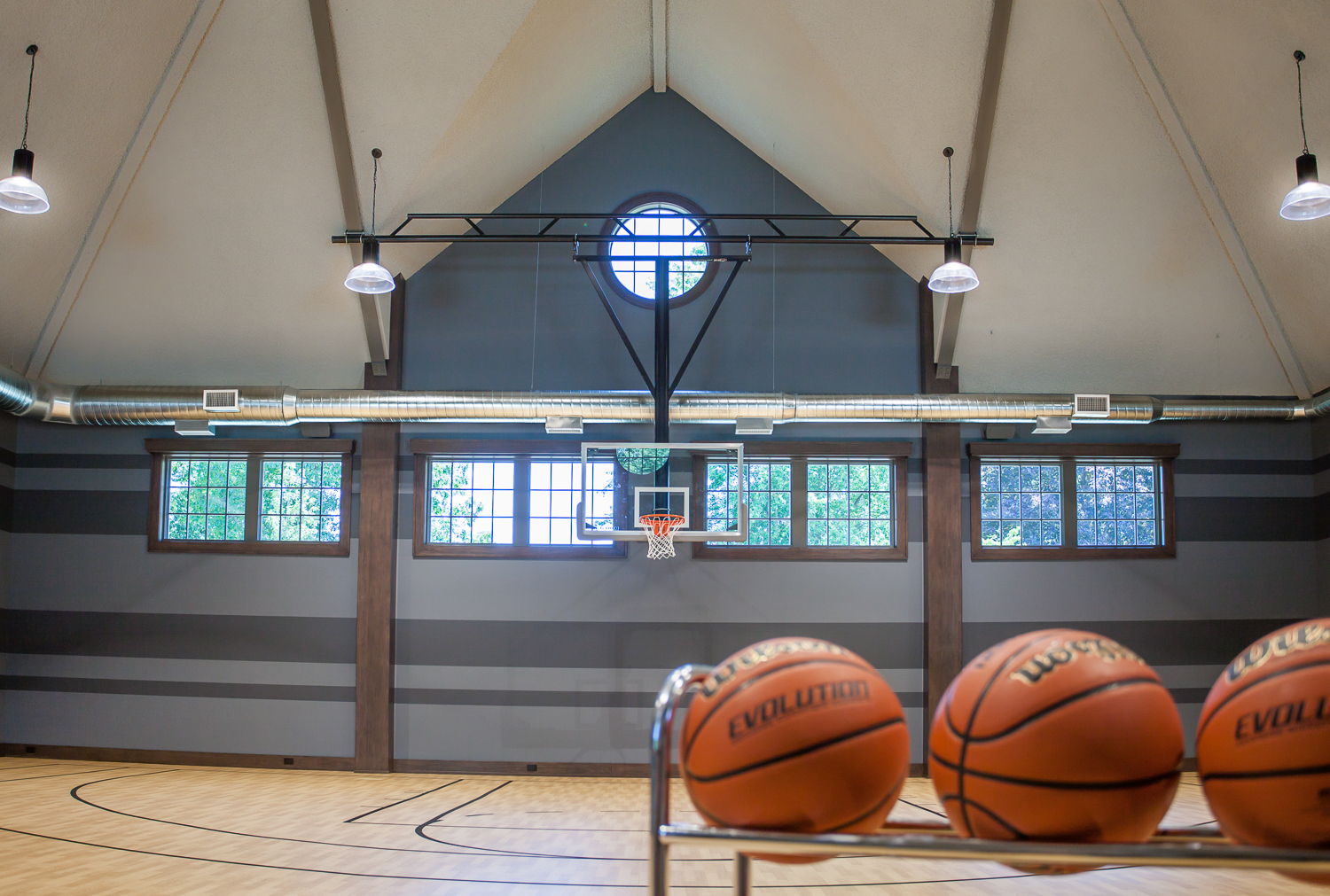 Indoor Basketball Court Sears Architects Scott Christopher Homes Fuchsia Design