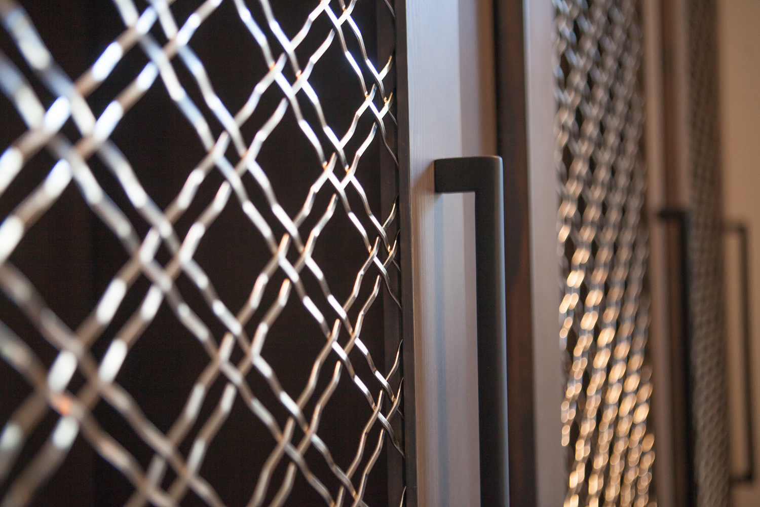 Entry Vestibule Lockers Metal Grill - Scott Christopher Homes, Sears Architects, Fuchsia Design