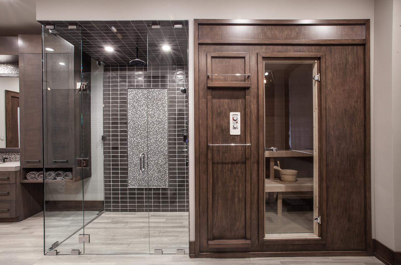 Locker Room Shower and Sauna