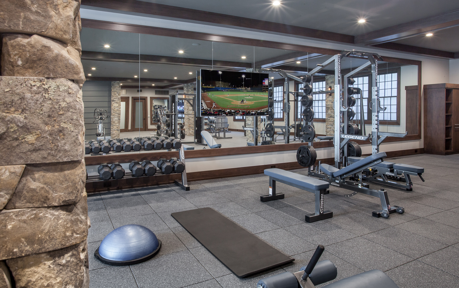 Home Gym Exercise Room - Fuchsia Design, Scott Christopher Homes, Sears Architects