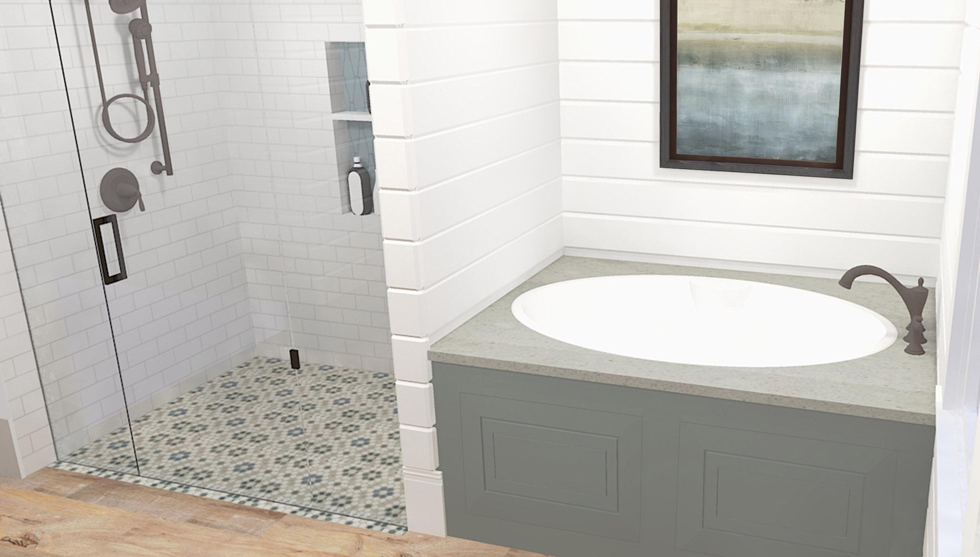 Master bathroom concept rendering - April 2016