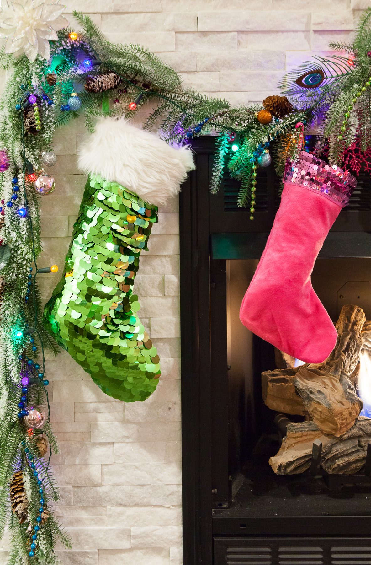 The stockings were hung by the chimney with care, in hopes that St. Nicholas soon would be there