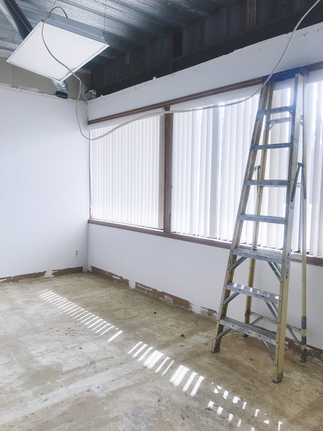 DURING - Drop ceiling removed