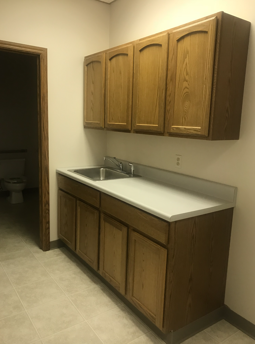 Before - The upper cabinets definitely had to go.