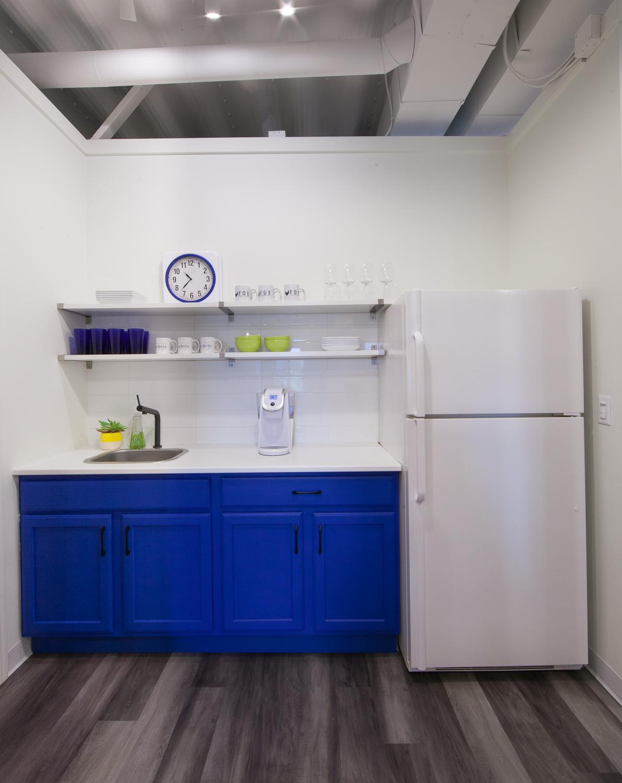 Fuchsia Design and Fox Consulting Group Office Renovation Kitchenette - Grand Rapids, MI