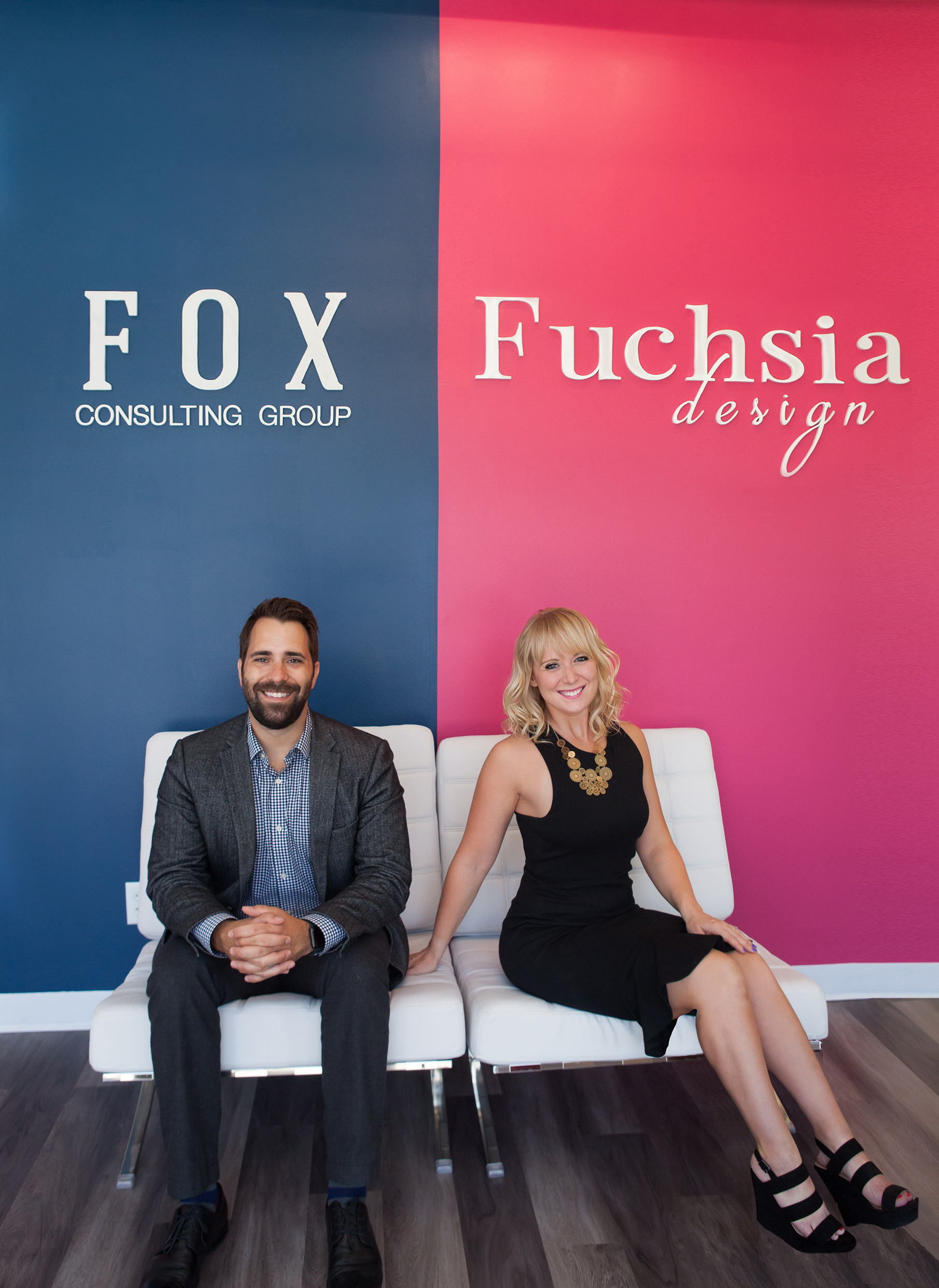 Autumn Fuchs with Fuchsia Design and Justin Fuchs with Fox Consulting Group