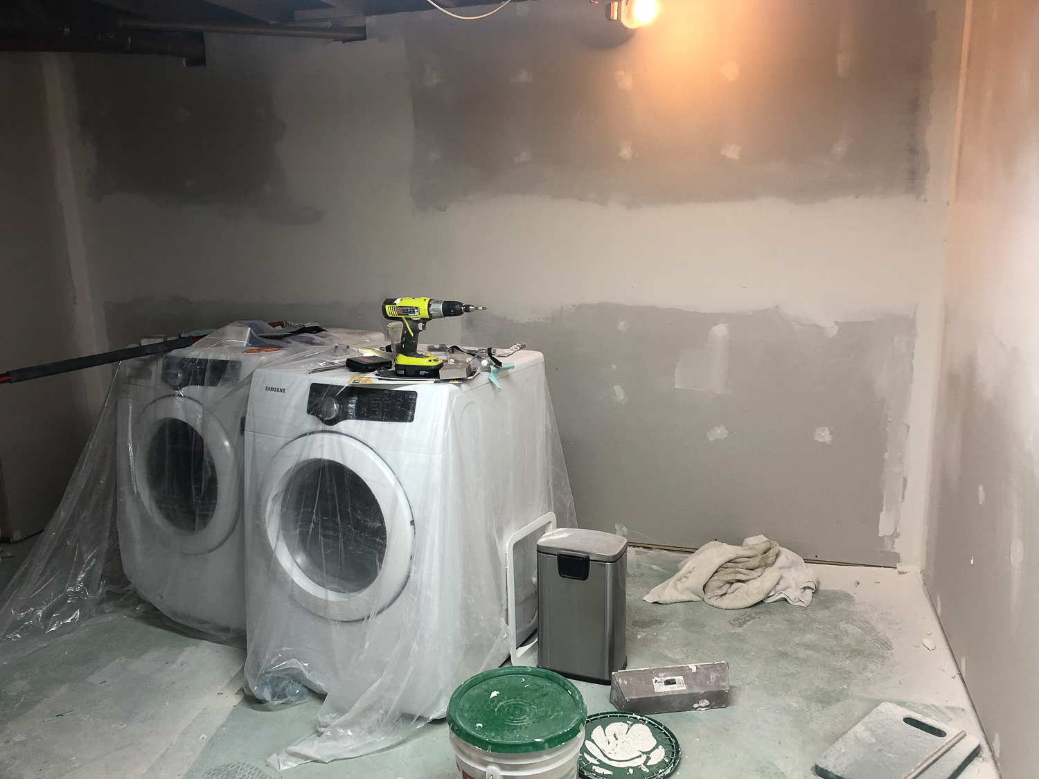 Had we ever tackled drywall before? Nope! Is it worth every penny to have someone else do it? Yup! Would we do it again? Absolutely not. BUT! We are happy we at least know how now, and can fully appreciate it when we do pay someone else to do it in the future.