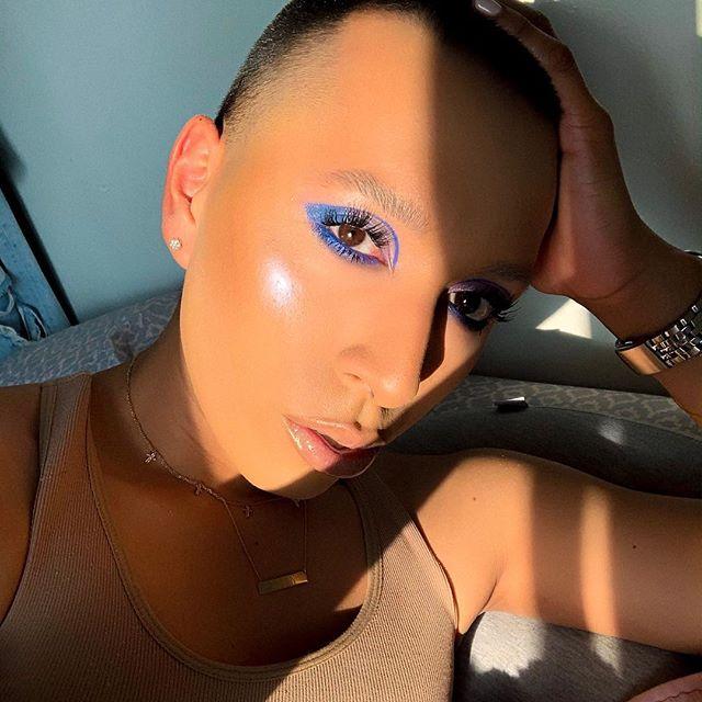 💙#glambybryan . . Eyes : @kkwbeauty #marioxkkw | @fentybeauty ||| Complexion : @coverfx power play | @limecrimemakeup Fairies palette ||| Skin Prep : @beautybydrkay Lavender spray | Vitamin C serum | @caudalie moisturizing sorbet ||| Lips : @maccosmetics Stripdown | @limecrimemakeup white cherry . . . . #makeuptutorial #limecrime #maccosmetics #beautybydrkay #fentybeauty #coverfx #kkwbeauty #makeupbymario #kimkardashian #kkw