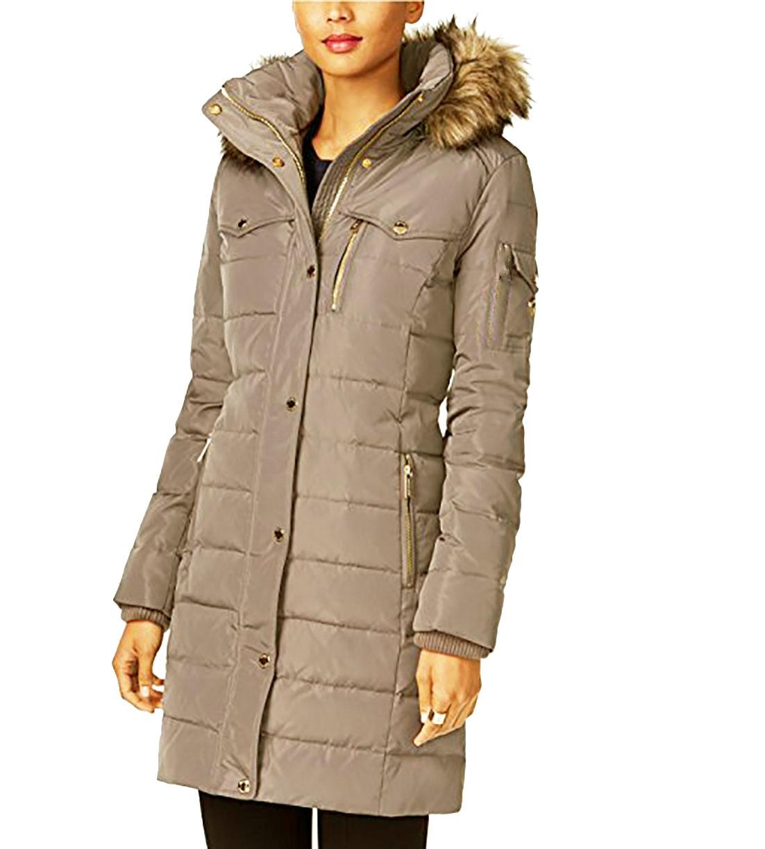 e0dcfae05 MICHAEL KORS Faux Fur Trim Down Puffer Coat — Zooloo LeatherZooloo Leather