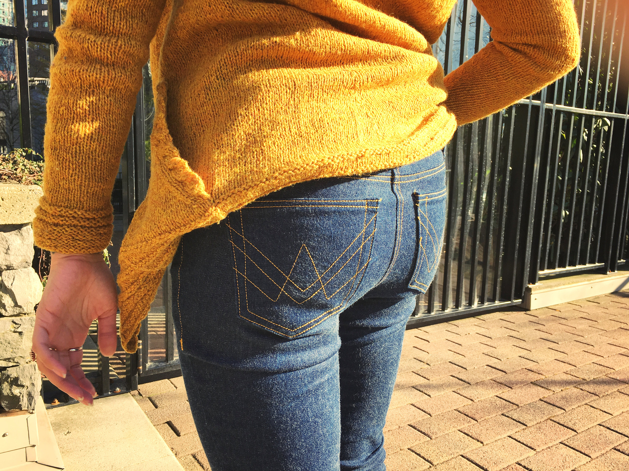 Cheeky butt photo! What self respecting jeans blog post wouldn't have one?