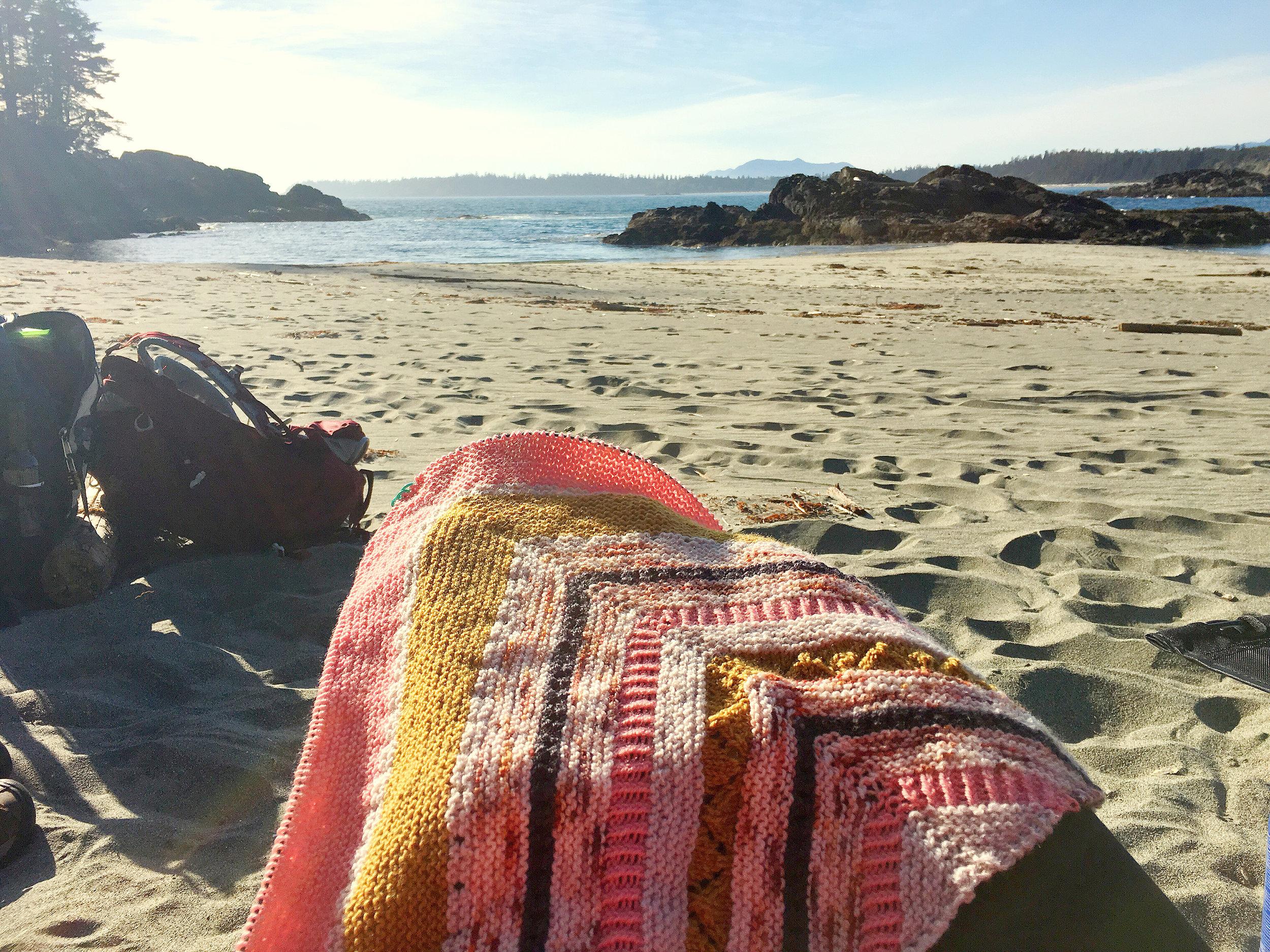 perfect beach knitting!