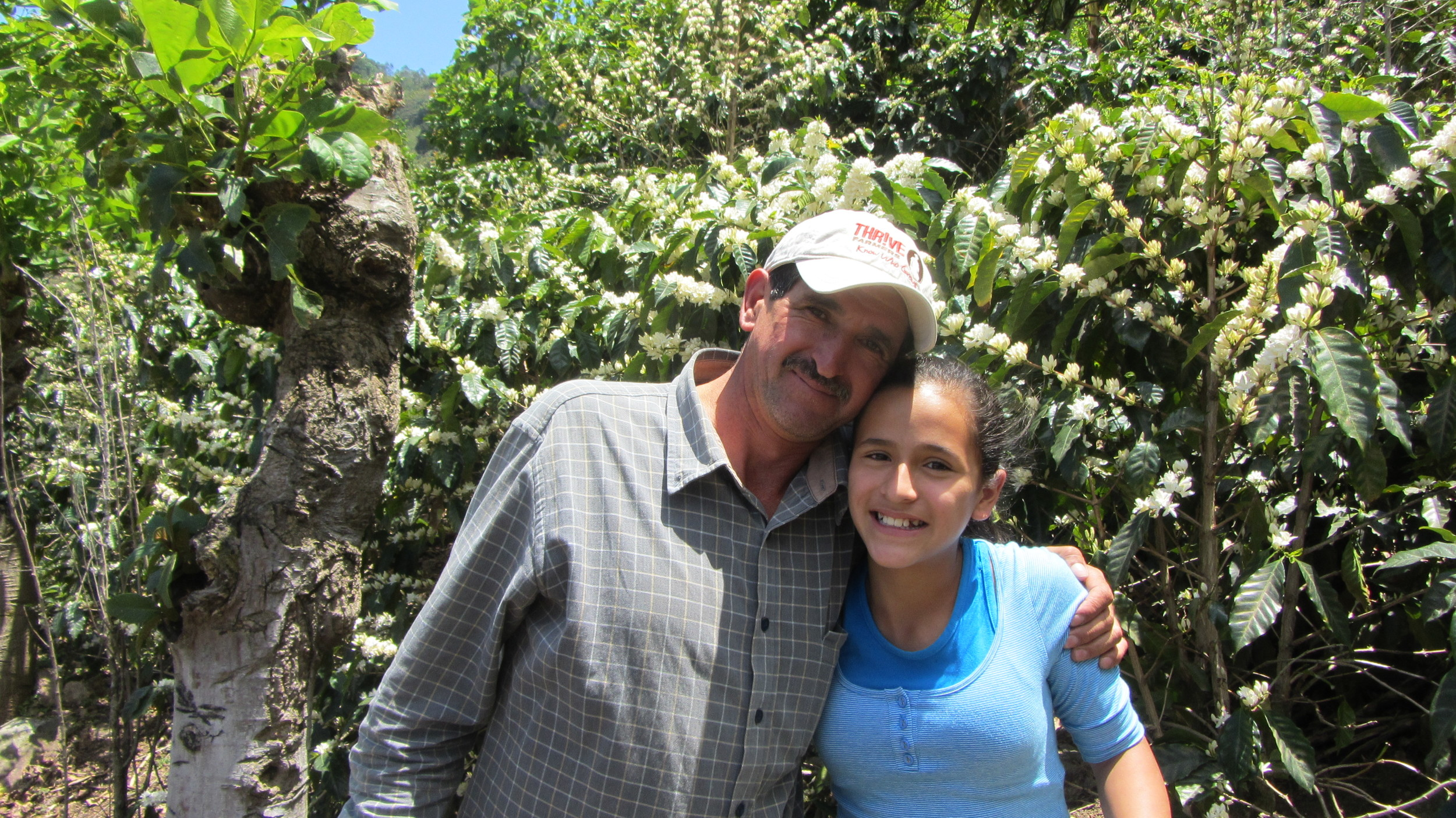 Don Franco and his daughter at their farm