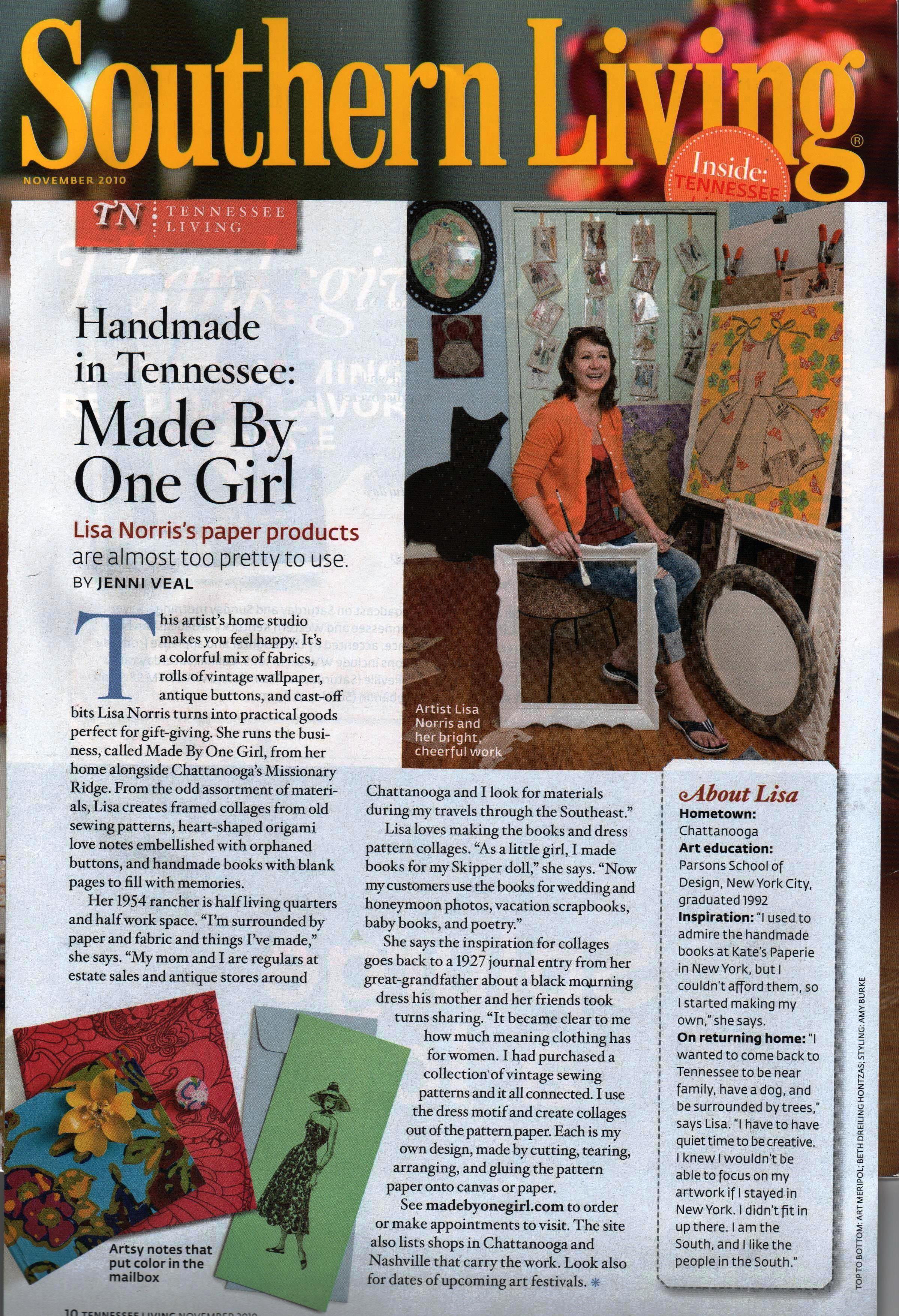 Southern Living Magazine, 2010
