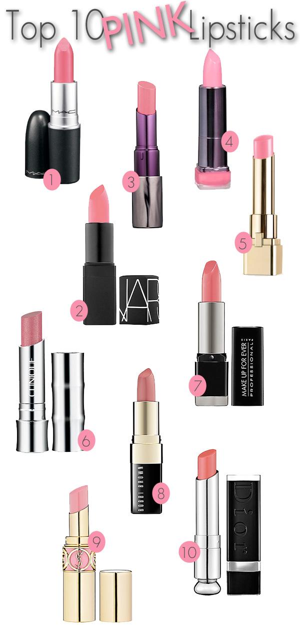 Top 10 Pink Lipsticks