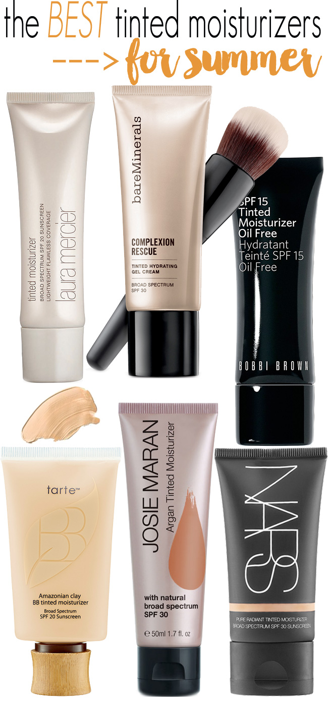 Summer Makeup Bag Must: Tinted Moisturizer. These are the best tinted moisturizers for summer. They will give even, long-lasting, natural coverage; perfect for summer.