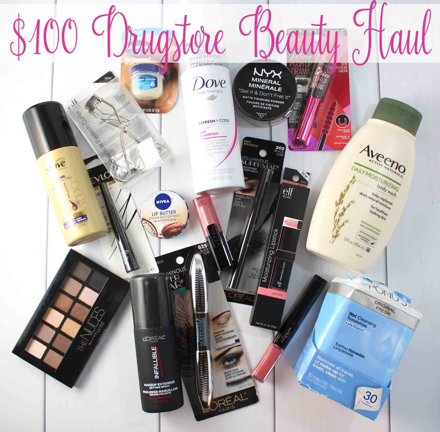 $100 Drugstore Beauty Haul: See how much you can get at CVS when shopping with coupons and ExtraBucks for just $100.