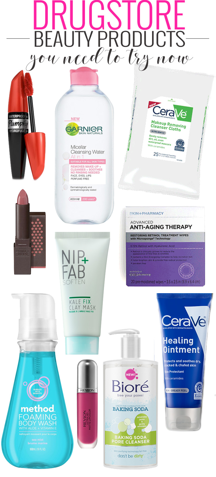 The 10 Drugstore Beauty Products You Need to Try NOW