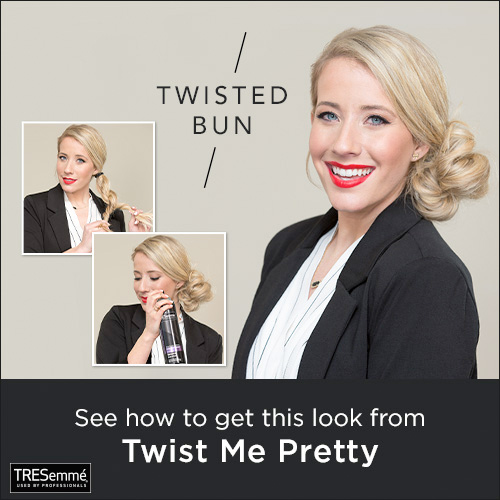 Recreate the Season's Hottest Hairstyles with TRESemmé.