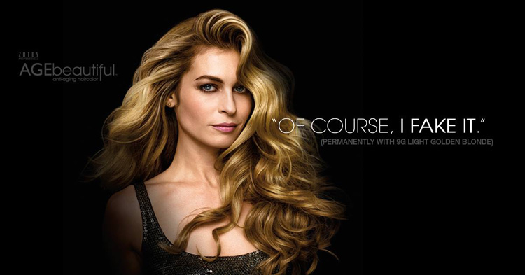 Experience the Pleasure of Faking It with AGEbeautiful Haircolor
