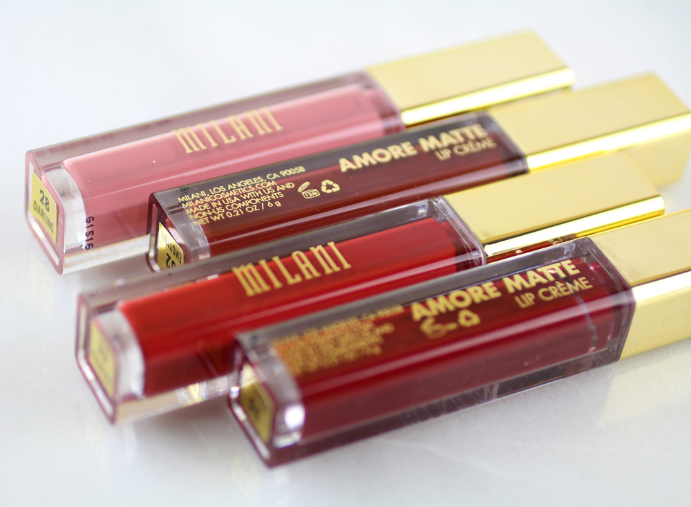 Milani Amore Matte Lip Crèmes to Fall For