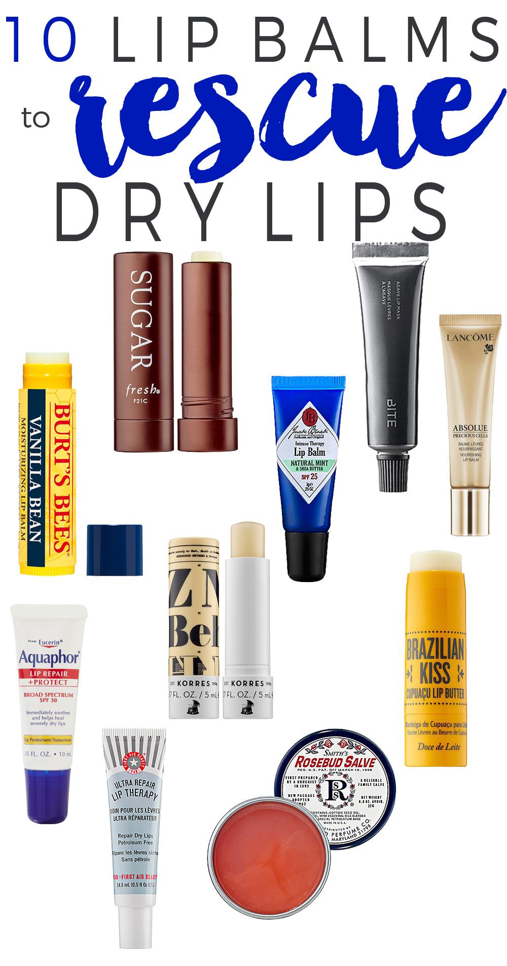 10 Lip Balms to Rescue Dry Lips